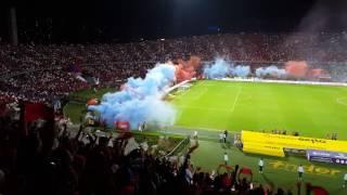 Previa, salida e himno Antioqueño clásico Medellin 2 vs nacional 2 octubre 22 del 2016