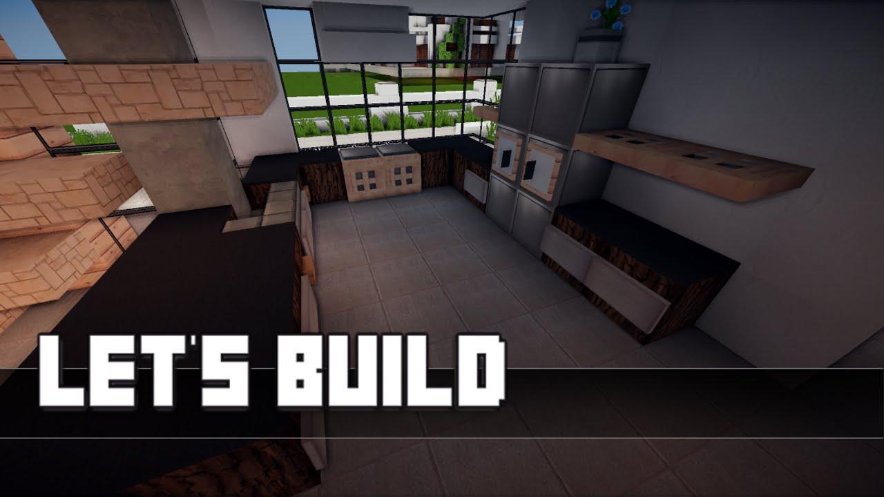 Minecraft Kuche Bauen Kuchenzeile Industrial
