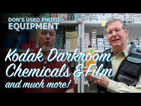 Kodak Darkroom Chemicals And Film At Don's Used Photo Equipment, In Dallas, Texas