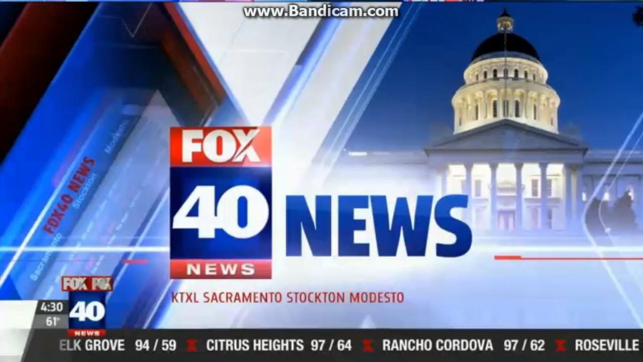 KTXL Fox 40 News at 4:30am open July 12, 2017