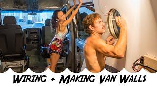 Converting a Sprinter Van | Week 3 | Wiring + Making Van Walls!