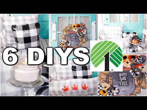 "🍁6 DIY DOLLAR TREE FALL DECOR CRAFTS 2019🍁""I LOVE FALL"" ep.12 Burlap Wreath Olivia's Romantic Home"