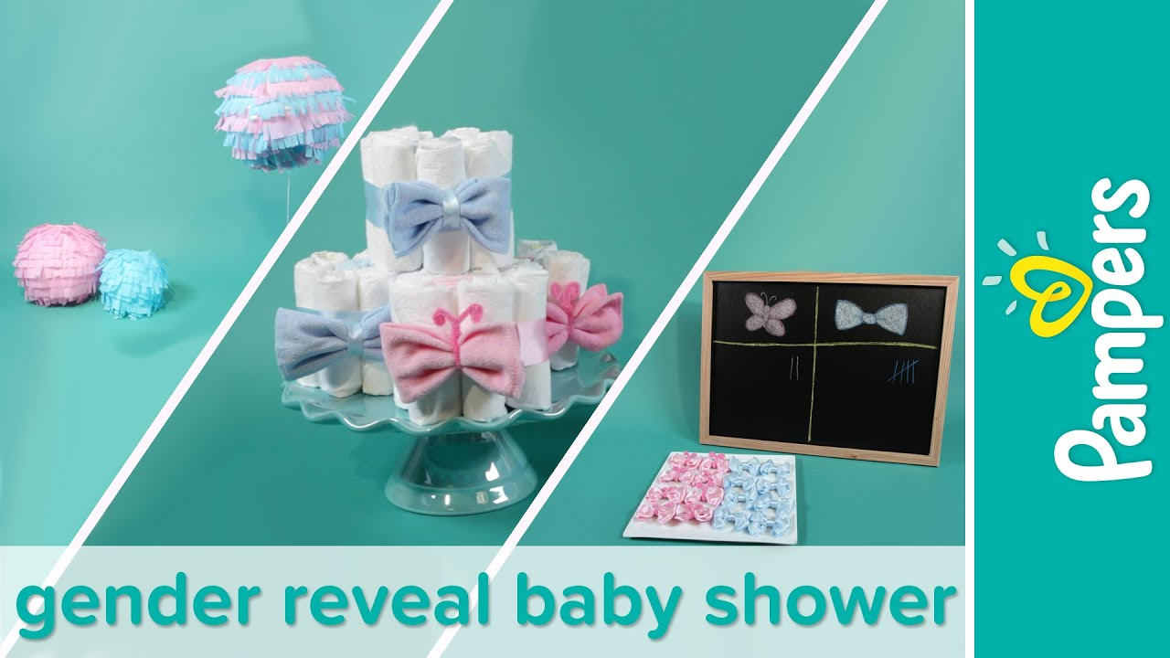 Baby Shower Themes: How To Plan A Gender Reveal Baby Shower | Pampers    YouTube
