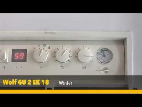 Heizungseinstellung - Vorlauftemperatur  an einer Wolf GU 2 EK 18