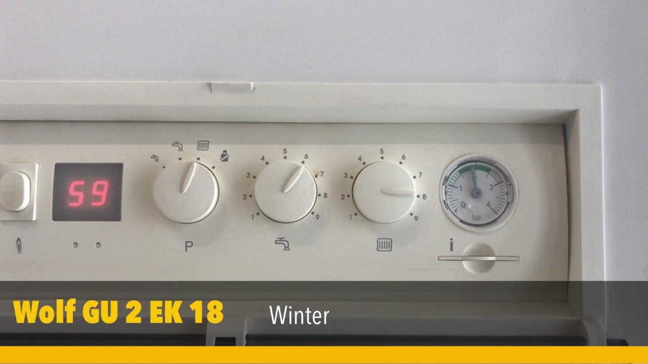 heizungseinstellung vorlauftemperatur an einer wolf gu 2 ek 18 youtube. Black Bedroom Furniture Sets. Home Design Ideas