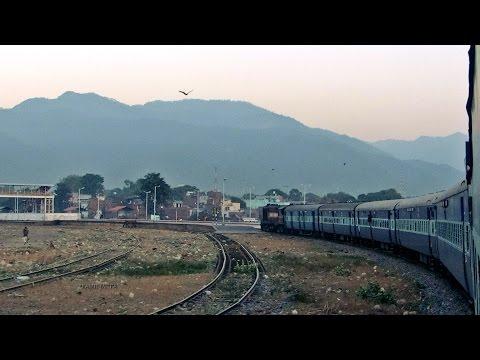 Picturesque 90 degree turn at HALDWANI : Jim Corbett Express INDIAN RAILWAYS