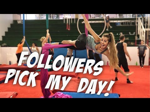 FOLLOWERS PICK MY DAY || Circus School, Donuts, and Gucci Slides!!!