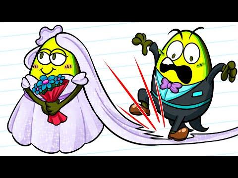 HILARIOUS WEDDING FAILS THAT WILL MAKE YOU CRINGE || VEGETABLE CARTOON