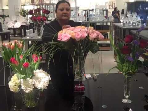 How To Arrange Flowers In Waterford Crystal Vases At Macys Dadeland