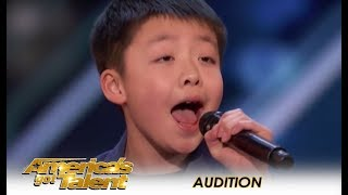 Jeffrey Li: Simon Cowell Promises A DOG To 12-Year-Old Child STAR! | America's Got Talent 2018