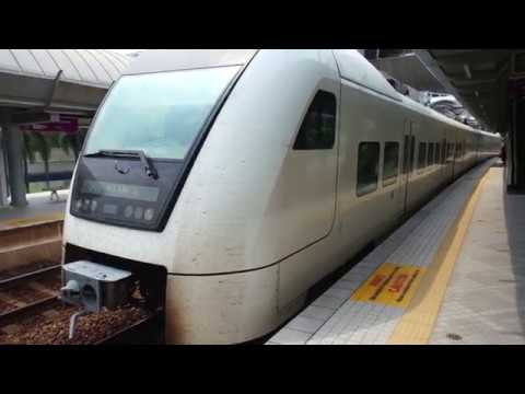 ERL KLIA Transit Siemens Desiro ET425M T1-02 departing at Bandar Tasik Selatan