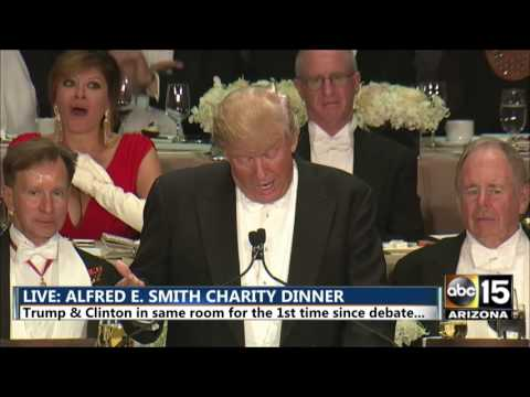 When Donald Trump's speech turns ugly at the Alfred E. Smith dinner