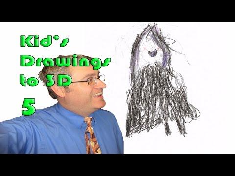 Kids Drawing to 3D Model 5 - Ella