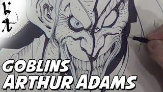 Arthur Adams drawing Green Goblin / Hobgoblin