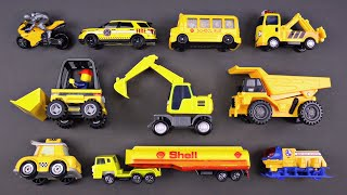 Learning Yellow Street Vehicles for Kids - Matchbox Hot Wheels Lego Tomica トミカ Tayo 타요 Robocar Poli