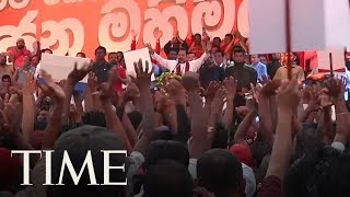 Sri Lankans March In Support Of Strongman Mahinda Rajapaksa's Return To Power | TIME