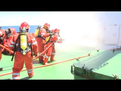 Emergency Fir Drill Onboard Ship