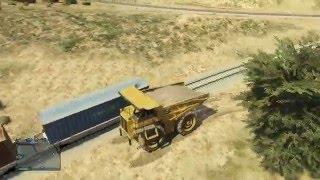 GTA 5 Train vs Dump truck