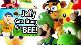 SML Movie: Jeffy Gets Stung By A Bee! Mario & Luigi Reaction (Freddy,Foxy,Chica,Pikachu,Bowser Jr)
