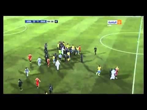 Big FIGHT in Qatar Cup match! Brazilian Nene ex PSG) vs  Houssine Kharja (ex Fiorentina)