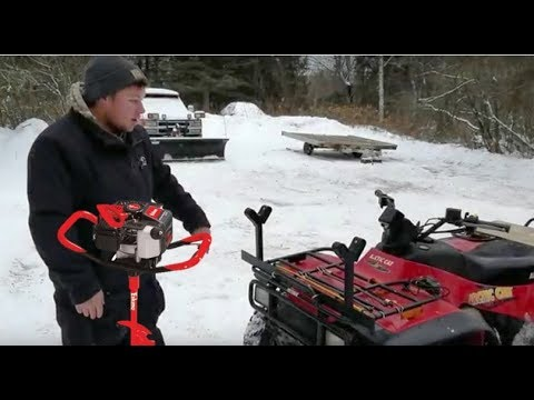 DIY Ice Fishing Auger Rack For ATV