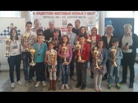 Kadetski festival mladih šahista u Vrbasu 2015