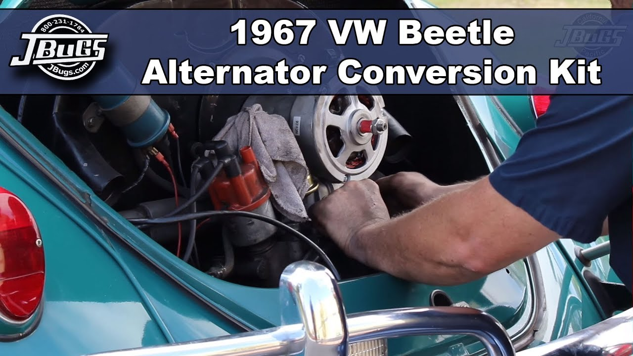 jbugs 1967 vw beetle alternator conversion kit installation [ 1280 x 720 Pixel ]