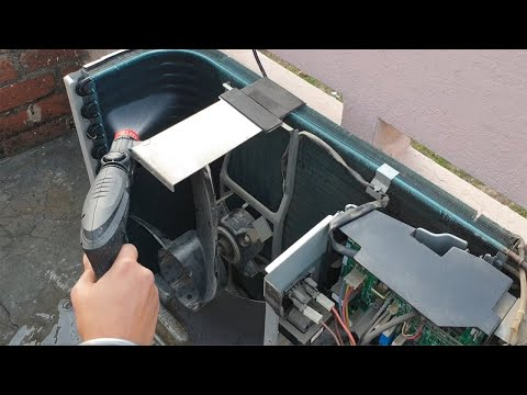 Air Conditioner Cleaning using Pressure washer || Outdoor Unit
