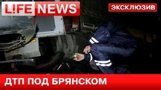 LifeNews публикует видео с места страшного ДТП под Брянском