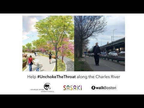 Help #UnchokeTheThroat along the Charles River