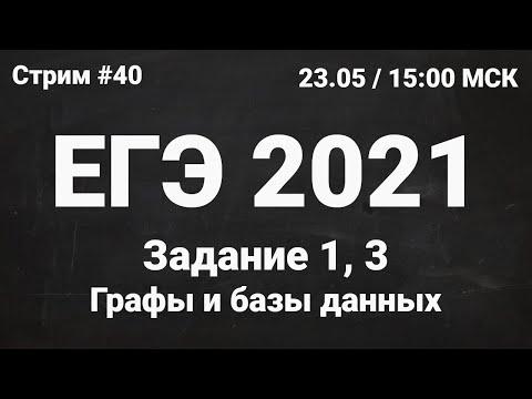 ЕГЭ по информатике 2021.40 Задание 1, 3