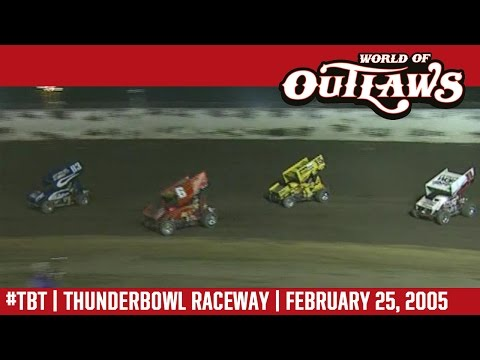 #ThrowbackThursday: World of Outlaws Craftsman Sprint Cars Thunderbowl Raceway February 25, 2005