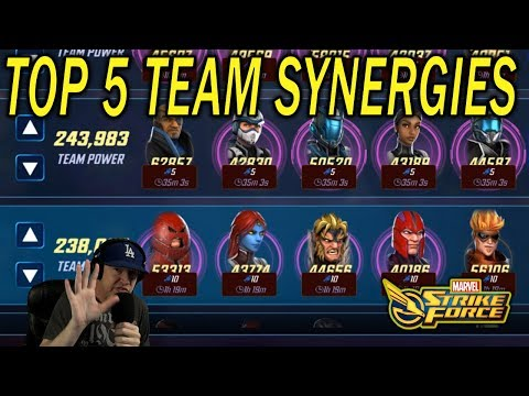 Top 5 Teams and Synergies - MARVEL Strike Force - MSF