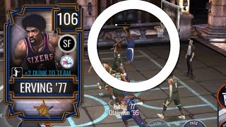 106 LIVE ALL-STAR JULIUS ERVING GAMEPLAY IN NBA LIVE MOBILE 20!!!