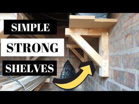 Making simple gallow shelf brackets / woodworking basics