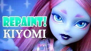 Repaint! Kiyomi Monster High Haunted Doll Ooak Custom