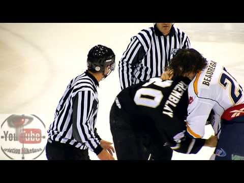 hockey fights Tremblay vs Beauregard 10 jan 2014