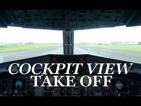 COCKPIT VIEW | Air Caraibes ATR 72-500 short take off from Guadeloupe
