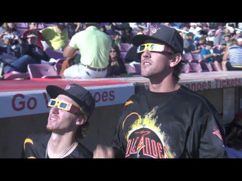 Baseball Hits an Eclipse