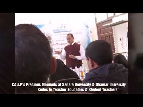 CALLLP's Precious Moments at Sana'a University & Dhamar University