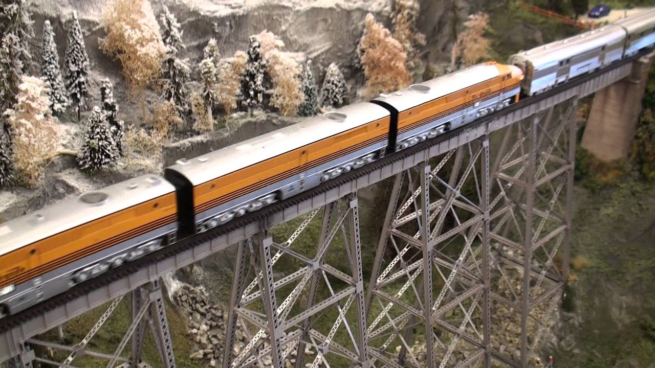 small resolution of ho alco pa d amp rgw mth bli california zephyr 11 car bridge youtube