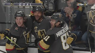 Deryk Engelland blisters in a shot from the point