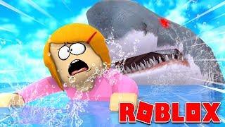 Roblox Escapar de los tiburones hambrientos gigantes!