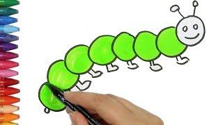 Как рисовать гусеницу - Как рисовать и цвет