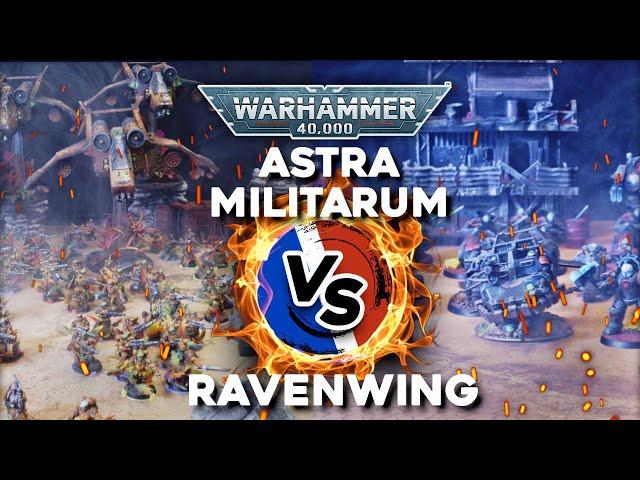RAPPORT DE BATAILLE WARHAMMER 40.000 - Astra militarum VS Ravenwing