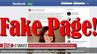 Fake News: Sarah Huckabee Sanders Official Facebook Page NOT Legal Property Of Facebook