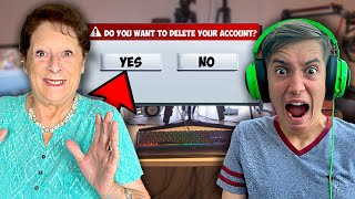 Grandma DELETES Kids $10,000 Fortnite Account!