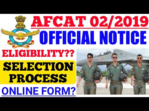 AFCAT 02/2019 Registration? Eligibility U0026 Selection Process.