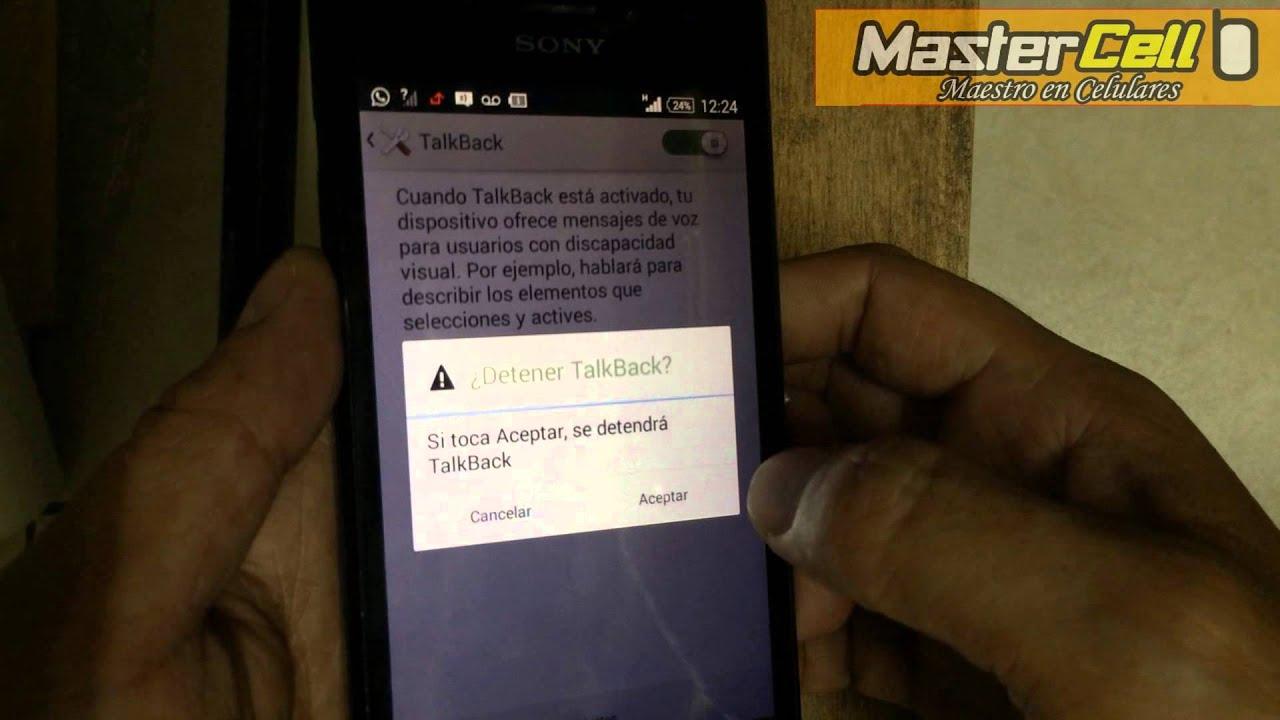 Desactivar Talkback de cualquier Android - Mi celular habla cuando ...