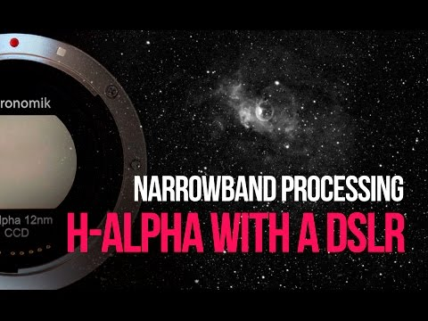 DSLR Astrophotography Tutorial - Processing Narrowband H-Alpha (Ha)